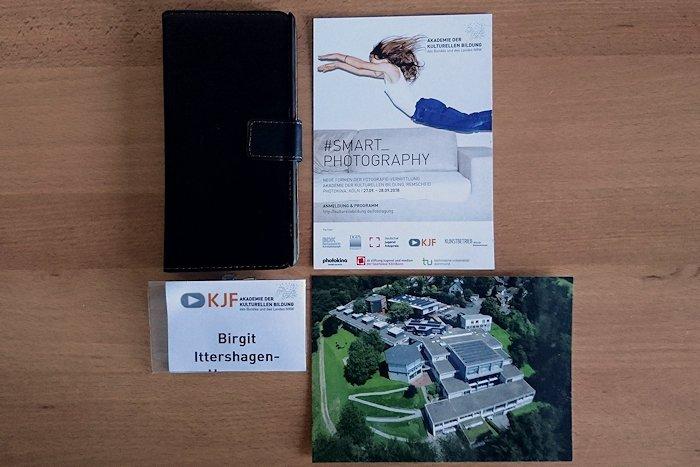 Smartphone Einladung Namenkärtchen Akademie Postkarte