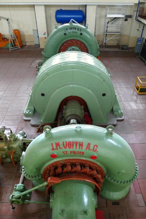 ein Maschinensatz im Pumpspeicherkraftwerk Niederwartha