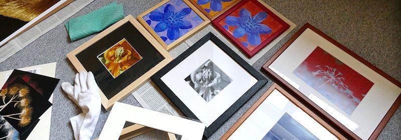 Fotografien mit Passepartout in verschiedenen Bilderrahmen
