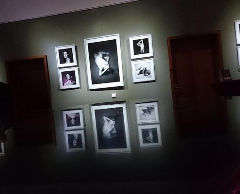 Schwarz-Weiss Aktfotografien spiegeln sich im Flügel