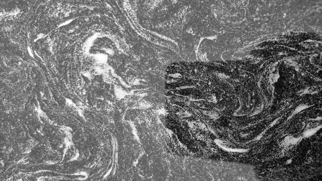 Blütenstaub Komposition, Schwaz-Weiß Foto