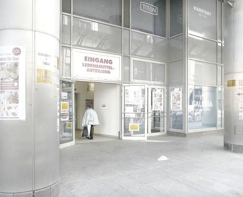 Im Dresdner Karstadt hat nur die Lebensmittel-Abteilung geöffnet