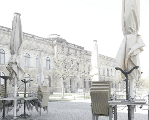 Blick zum Semperbau mit der Gemäldegalerie Alte Meister