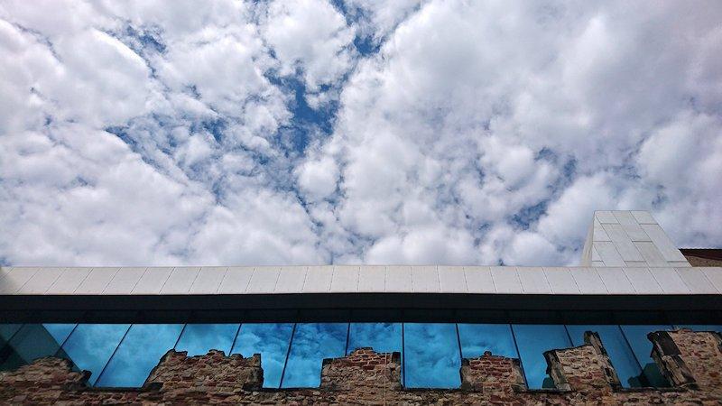 Kunstmuseum Moritzburg Detail mit Wolken