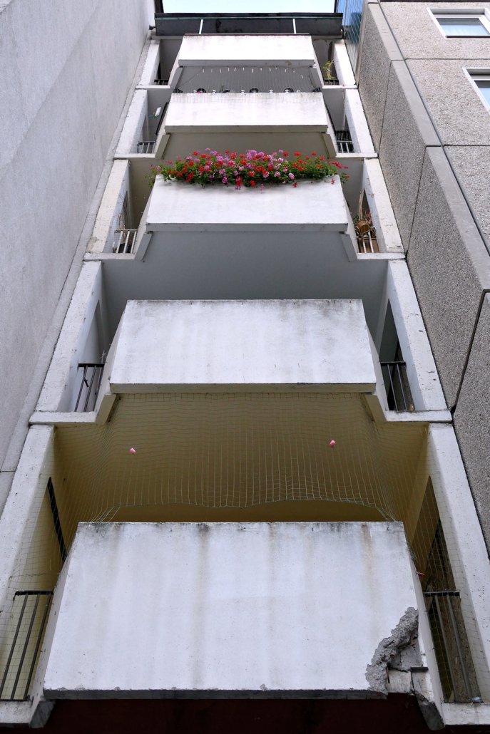 Der triste Balkon